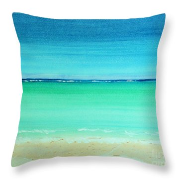 Caribbean Ocean Turquoise Waters Abstract Throw Pillow
