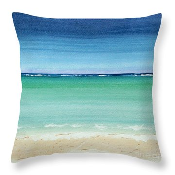 Reaf Ocean Turquoise Waters Square Throw Pillow