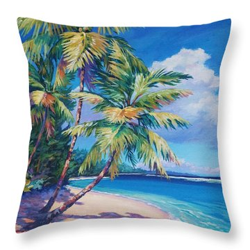 Caribbean Paradise Throw Pillow by John Clark