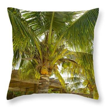 Caribbean Parasol Throw Pillow