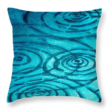 Caribbean Ripples Throw Pillow