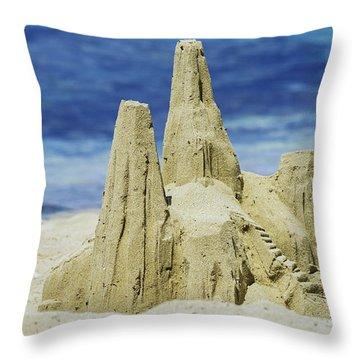 Caribbean Sand Castle  Throw Pillow by Betty LaRue