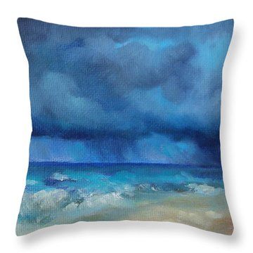 Caribbean Storm Throw Pillow by Chris Brandley