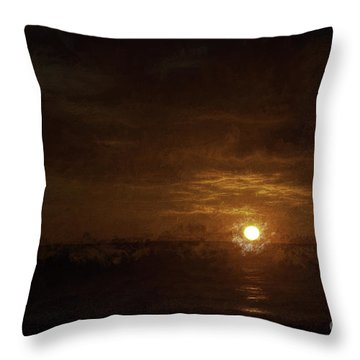 Caribbean Sundown  ... Throw Pillow