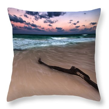 Throw Pillow featuring the photograph Caribbean Sunset by Mihai Andritoiu