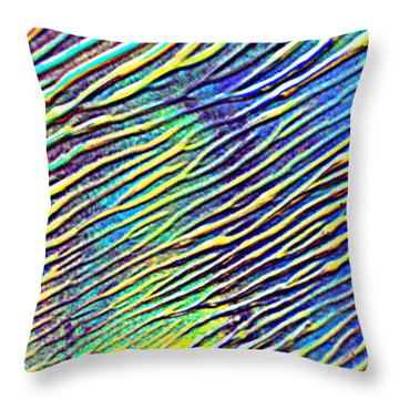 caribbean waves Acryl blurred vision Throw Pillow by Sir Josef - Social Critic -  Maha Art