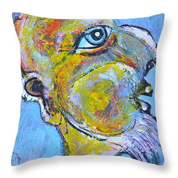 Caricature Of A Wise Man Throw Pillow by Ion vincent DAnu