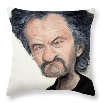 Caricature Of Robert De Niro As Louis Gara In The Movie Jackie Brown Throw Pillow