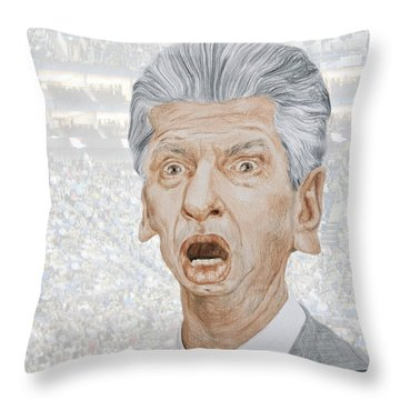 Caricature Of Wwe Owner Vince Mcmahon Throw Pillow