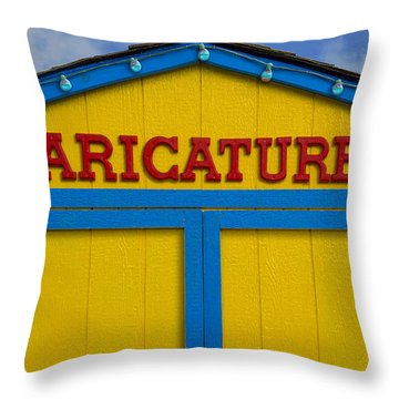 Throw Pillow featuring the photograph Caricatures by Paul Wear