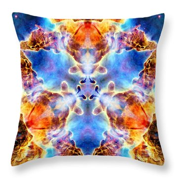 Carina Nebula Vi Throw Pillow