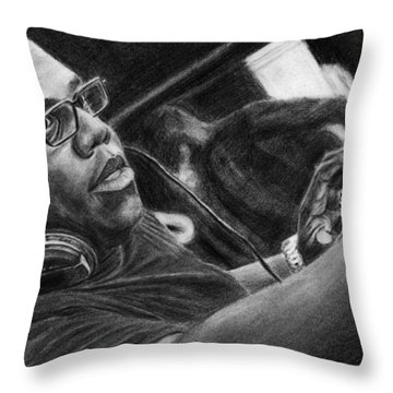 Carl Cox Pencil Drawing Throw Pillow
