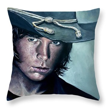 Carl Grimes Throw Pillow