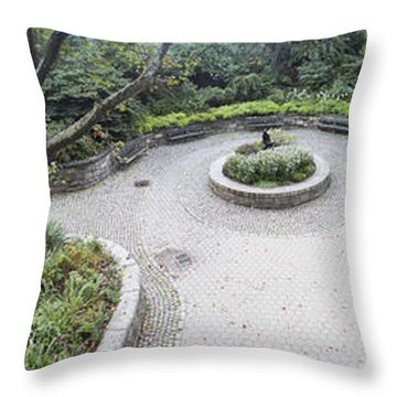 Carl Schurz Park Pano  Throw Pillow by Dave Beckerman