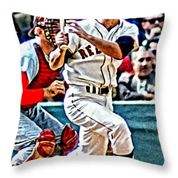 Carl Yastrzemski Throw Pillow