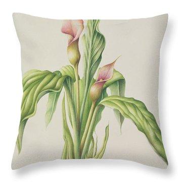 Carla Lily Throw Pillow