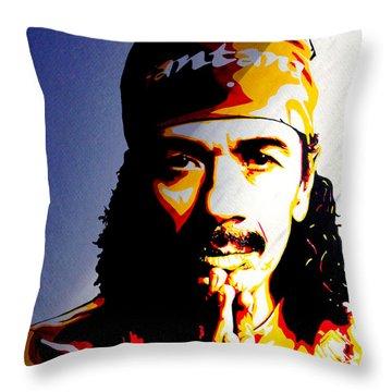 Carlos Santana. Throw Pillow