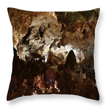Carlsbad Caverns #2 Throw Pillow by Kathy McClure