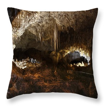 Carlsbad Caverns #3 Throw Pillow by Kathy McClure