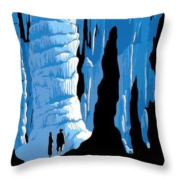 Carlsbad Caverns National Park Vintage Poster Throw Pillow