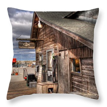 Carlson's Fisheries Throw Pillow