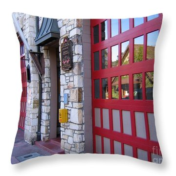 Carmel By The Sea Fire Station Throw Pillow