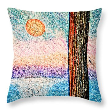 Carmel Highlands Sunset Throw Pillow
