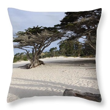 Throw Pillow featuring the photograph Carmel by Kandy Hurley