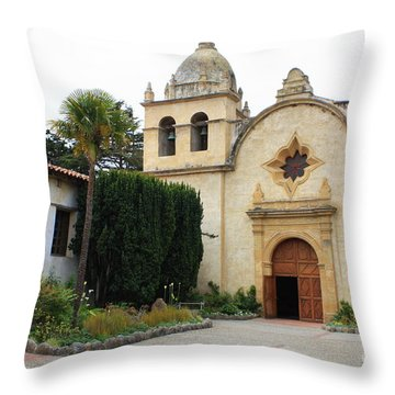 Carmel Mission Church Throw Pillow