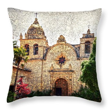 Carmel Mission Throw Pillow by RicardMN Photography