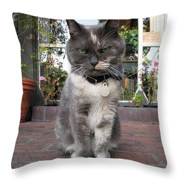 Carmel Shopkeeper Throw Pillow