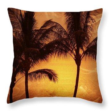 Carmel Sunset Throw Pillow by Athala Carole Bruckner