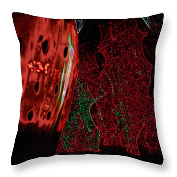 Carmellas Red Vase 3 Throw Pillow