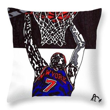 Carmelo Anthony Throw Pillow by Jeremiah Colley