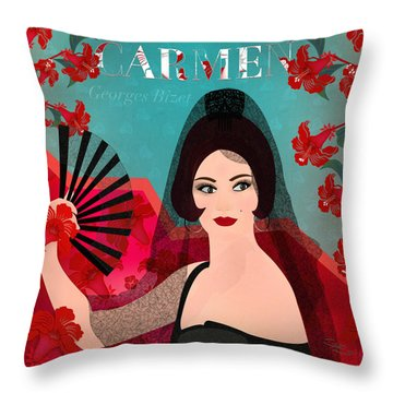 Carmen - Limited Edition 1 Of 15 Throw Pillow