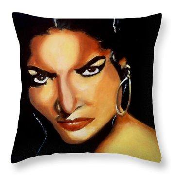 Carmen - Original Painting  Throw Pillow