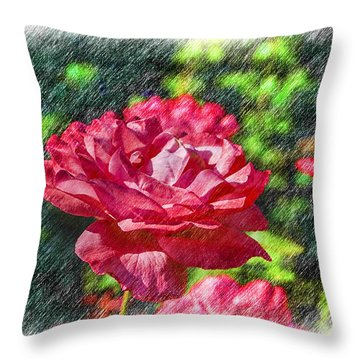 Carnation Throw Pillow
