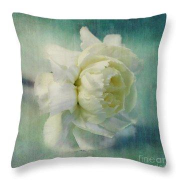 Carnation Throw Pillow by Priska Wettstein
