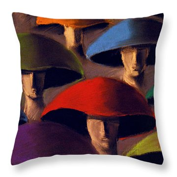 Carnaval Throw Pillow by Mona Edulesco