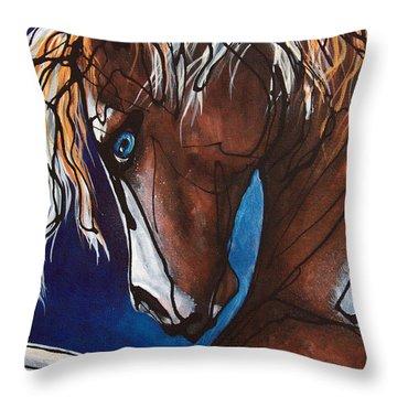 Carnaval Ride Throw Pillow