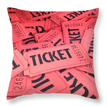 Throw Pillow featuring the photograph Carnaval Ticket by Jerry Bunger