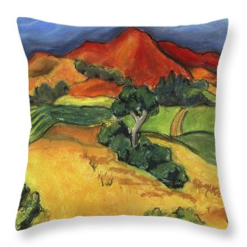 Carneros Vineyard Summer Throw Pillow by Amelia Hunter