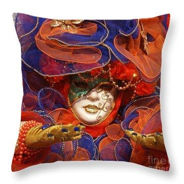 Carnevale Di Venezia 21 Throw Pillow
