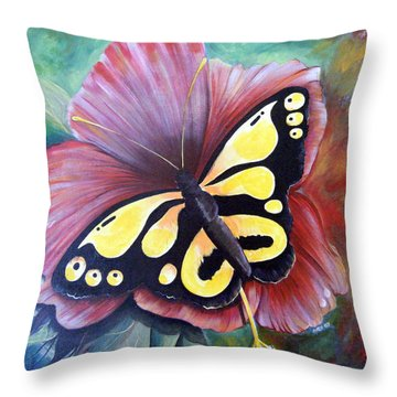 Carnival Butterfly Throw Pillow