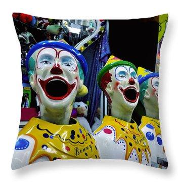 Carnival Clowns Throw Pillow