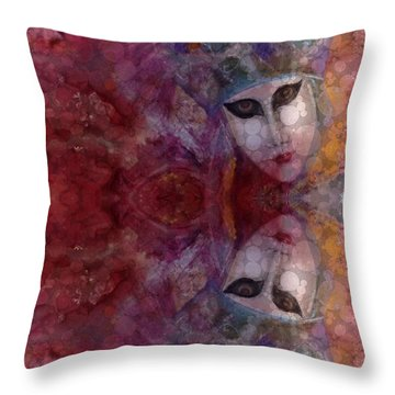 Throw Pillow featuring the digital art Carnival Colors  by Delona Seserman