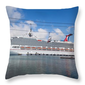 Carnival Conquest Throw Pillow by Rene Triay Photography