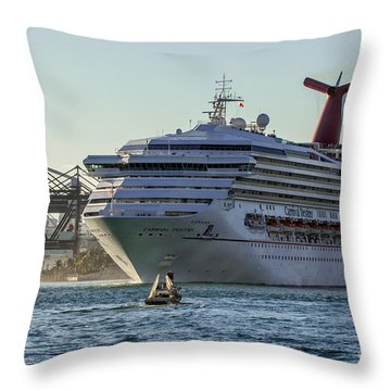 Carnival Cruise Line Destiny Throw Pillow by Rene Triay Photography