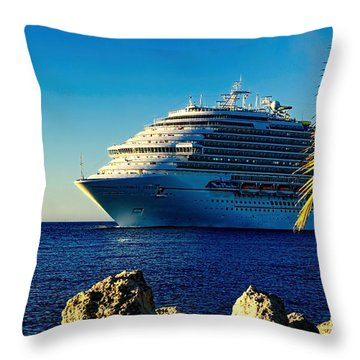 Throw Pillow featuring the photograph Carnival Dream II by Pamela Blizzard