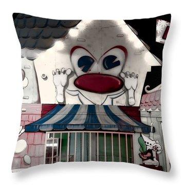 Carnival Fun House Throw Pillow